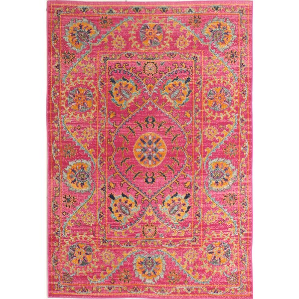 Ashburn Fuchsia Cotton Area Rug by Bungalow Rose