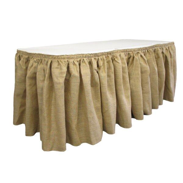 Burlap Table Skirt by LA Linen