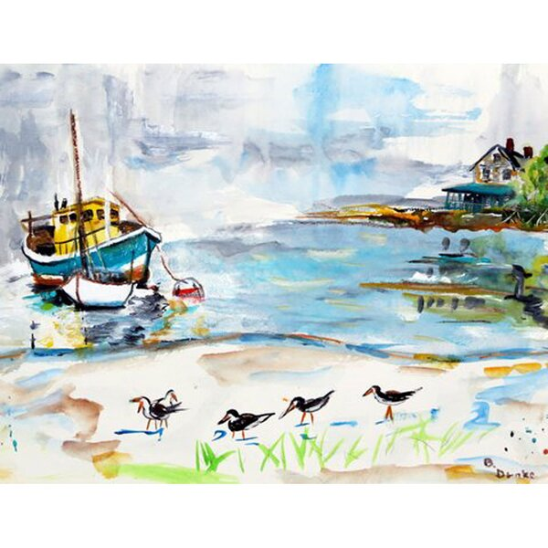 Boats and Sandpipers Placemat (Set of 4) by Betsy Drake Interiors