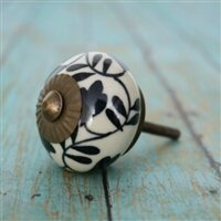 Floral Design Ceramic Round Knob by MarktSq