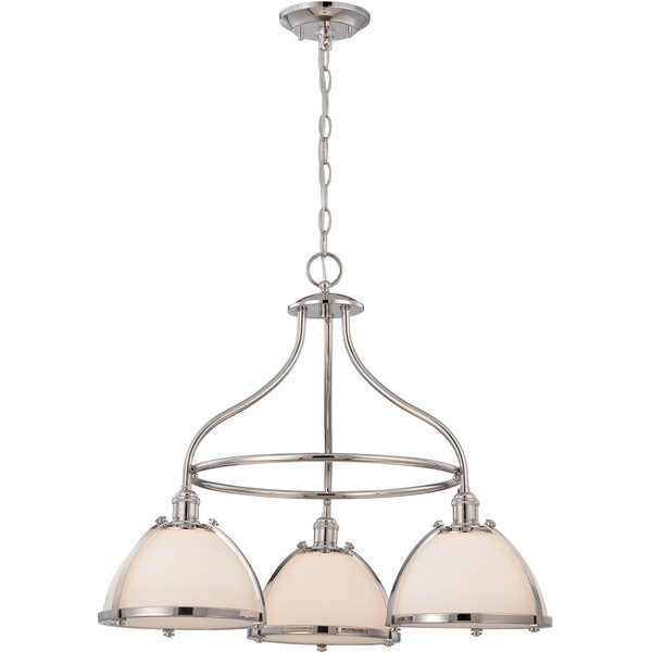 Kenyon 3-Light Shaded Wagon Wheel Chandelier by Charlton Home Charlton Home