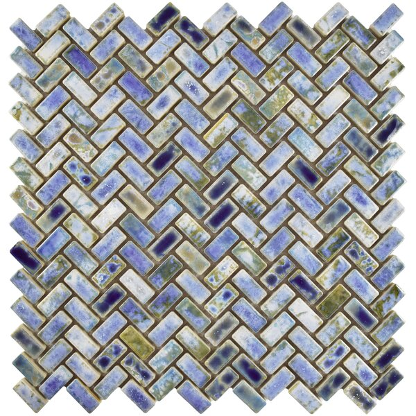 Arcadia 11.63 x 11.63 Porcelain Mosaic Floor and Wall Tile in Neptune Blue by EliteTile