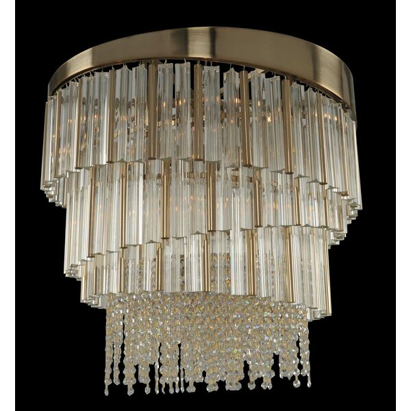 Hideaway 9 - Light Unique / Statement Tiered Chandelier with Crytal Accents by Everly Quinn Everly Quinn
