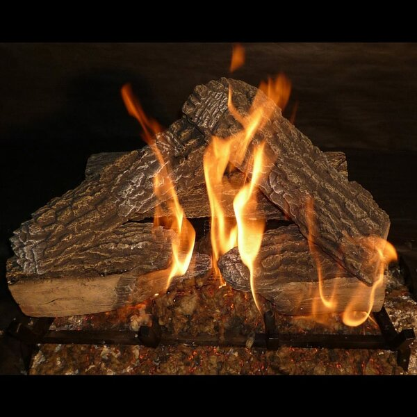 Review Split Oak Vented Natural Gas/Propane Fireplace Log