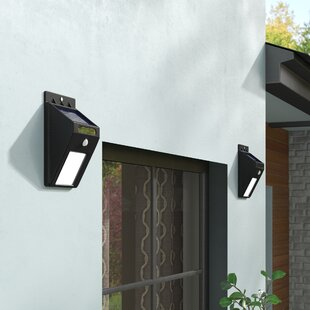 Clearance Modern Motion Sensor Solar 2-Light Outdoor Spotlight (Set of 2) By Symple Stuff