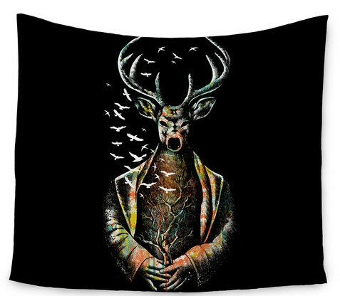 There Is No Place by BarmalisiRTB Wall Tapestry by East Urban Home