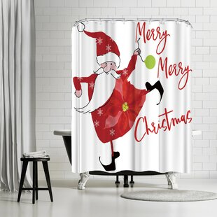 Price Check Edith Jackson Merry Merry Shower Curtain By East Urban Home