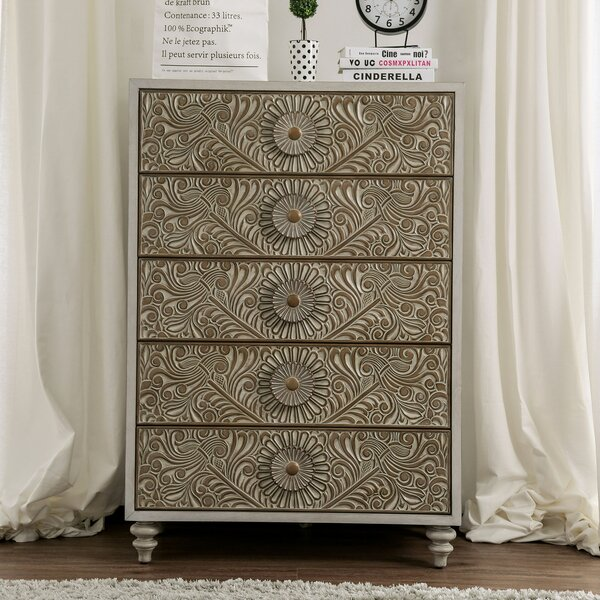 Zeller 5 Drawer Chest by Ophelia & Co.