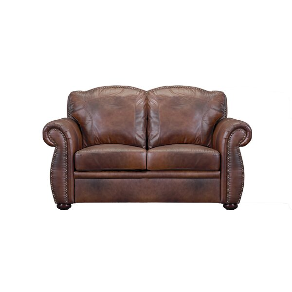 Danieli Leather Loveseat by Canora Grey
