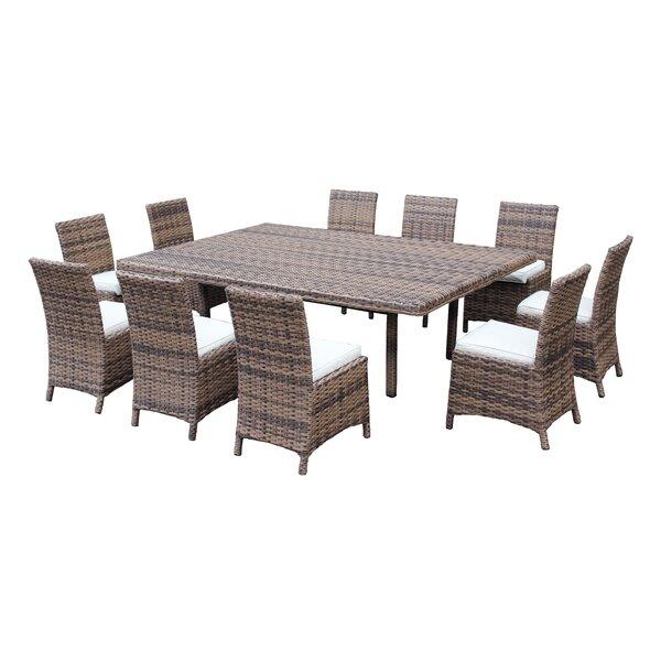 Sezer 11 Piece Dining Set with Sunbrella Cushions by Latitude Run