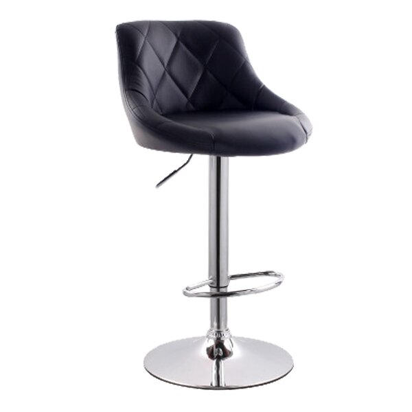 Secaucus Adjustable Height Swivel Bar Stool by Latitude Run