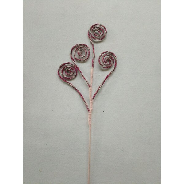 Pick with Four Swirl Branch (Set of 8) by The Holiday Aisle