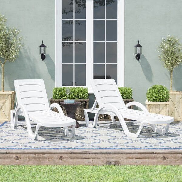 Snake River Sun Reclining Chaise Lounge (Set of 4) by Red Barrel Studio Red Barrel Studio