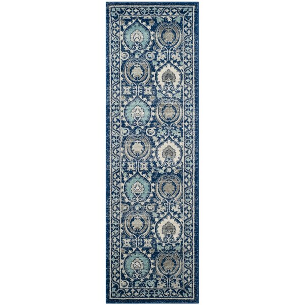 Aegean Blue/Ivory Area Rug by Andover Mills