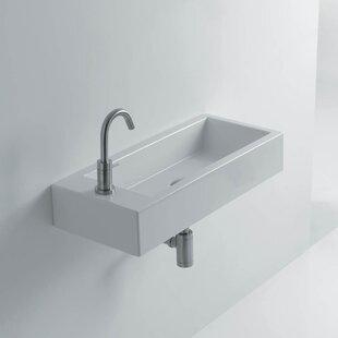Hox Ceramic 20 Wall Mount Bathroom Sink ByWS Bath Collections