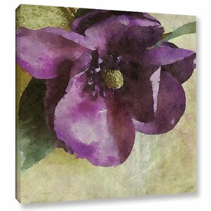 Purple Vibrant Spring Rhapsody Painting Print on Wrapped Canvas by Alcott Hill