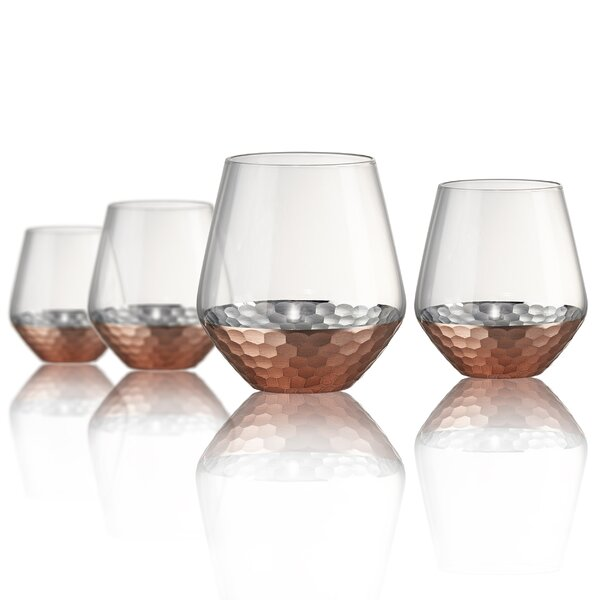 Gage Hammer Double Old Fashioned Glass (Set of 4) by Mint Pantry
