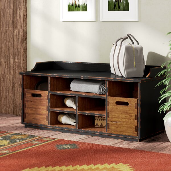 Windom Ridge Wood Storage Bench by Loon Peak Loon Peak