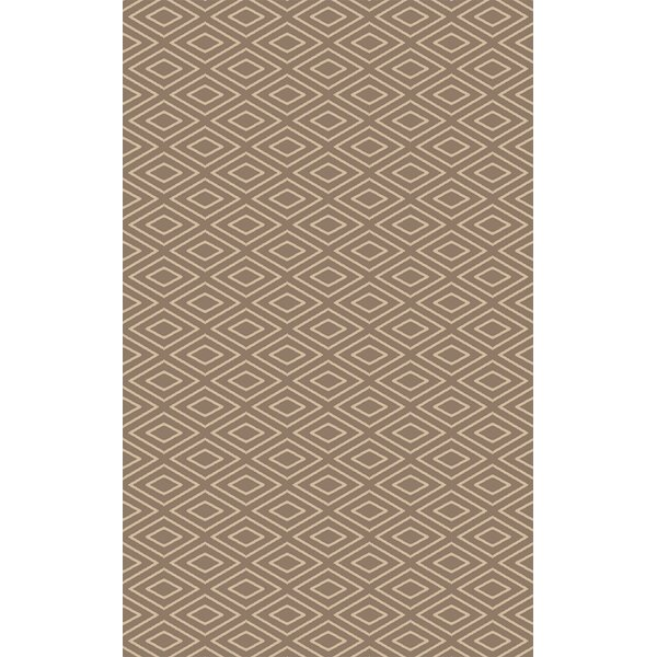 Arcuri Hand-Woven Beige/Ivory Area Rug by Wrought Studio