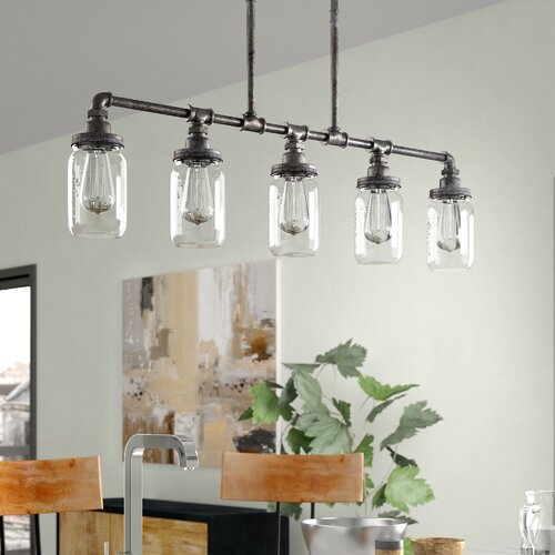 Trent Austin Design Brys 5 Light Kitchen Island Linear Pendant