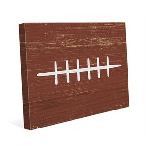'Football' Graphic Art on Wrapped Canvas by Click Wall Art