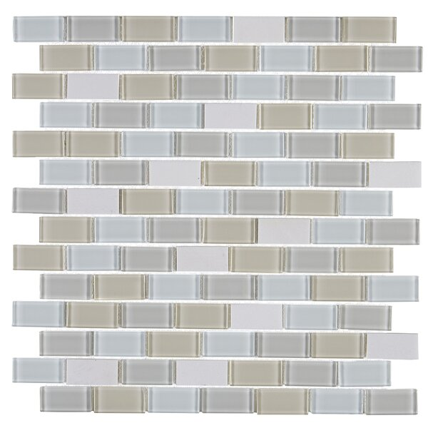Gibson 12 x 13 Mixed Material Mosaic Tile in Oasis by Itona Tile