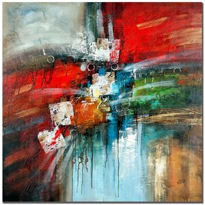 'Cube Abstract IV' Painting Print on Canvas by Trademark Fine Art