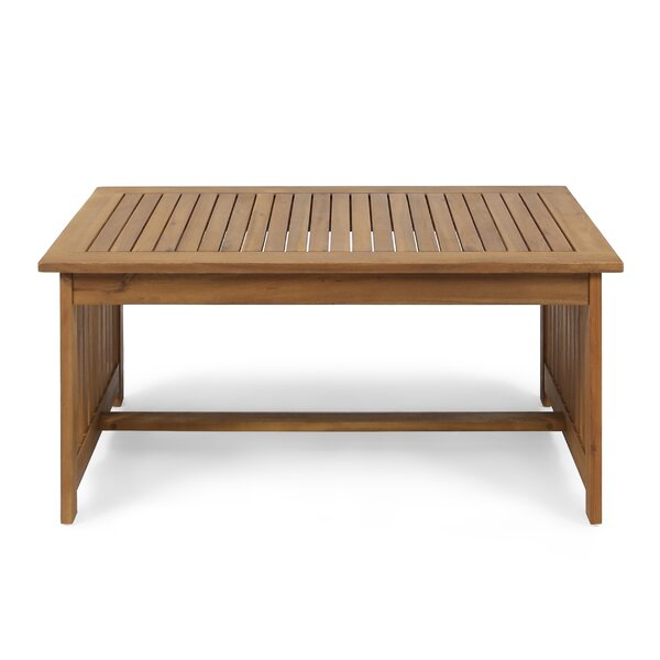 Carlie Outdoor Wooden Coffee Table by Charlton Home