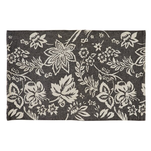 Messina Charcoal Area Rug by Charlton Home