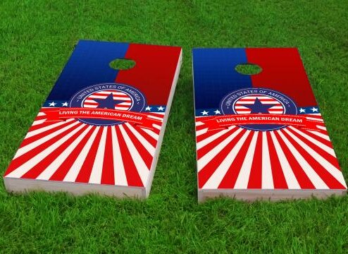 America Theme Cornhole Game (Set of 2) by Custom Cornhole Boards