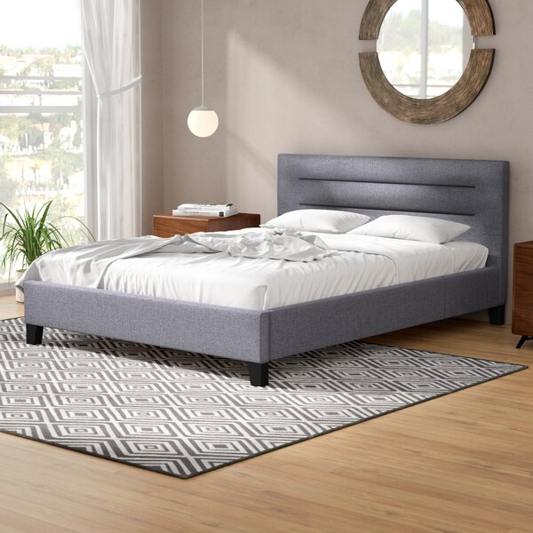 Pia Upholstered Platform Bed by Wade Logan