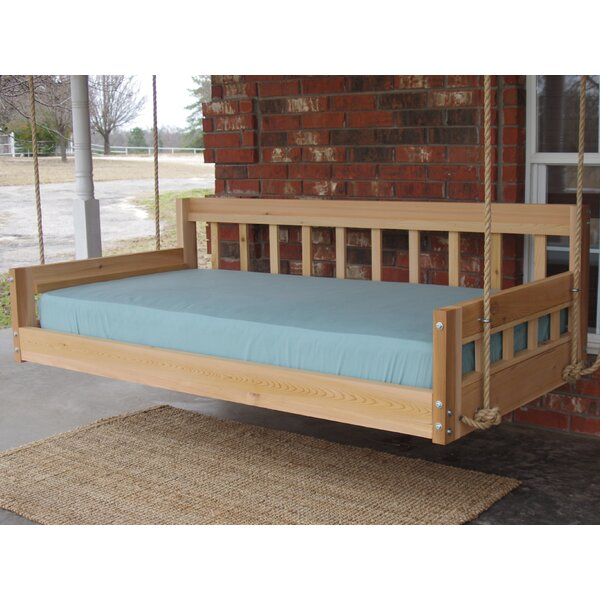 Lomita Hanging Daybed Rope Porch Swing by Millwood Pines