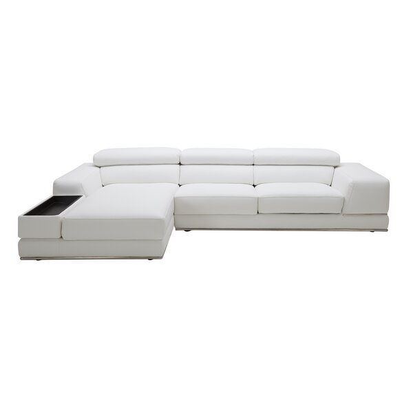 Shurtz Leather Sectional by Orren Ellis