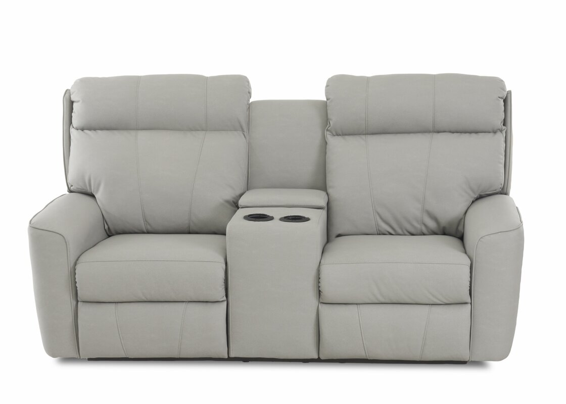 Check Prices Chau Power Reclining Loveseat With Console By