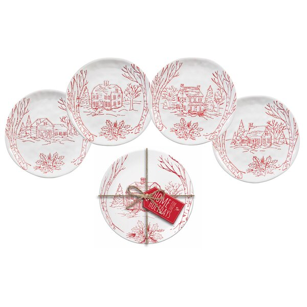 Mortimer Holiday Farmhouse 4 Piece Appetizer Plate Set by August Grove