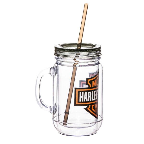 Harley-Davidson® 20 oz. Plastic Mason Jar by Evergreen Enterprises, Inc