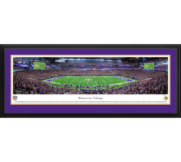NFL MN Vikings 1st Game at US Bank Stadium Framed Photographic Print by Blakeway Worldwide Panoramas, Inc