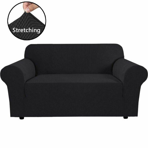 Check Price Stretch Box Cushion Loveseat Slipcover