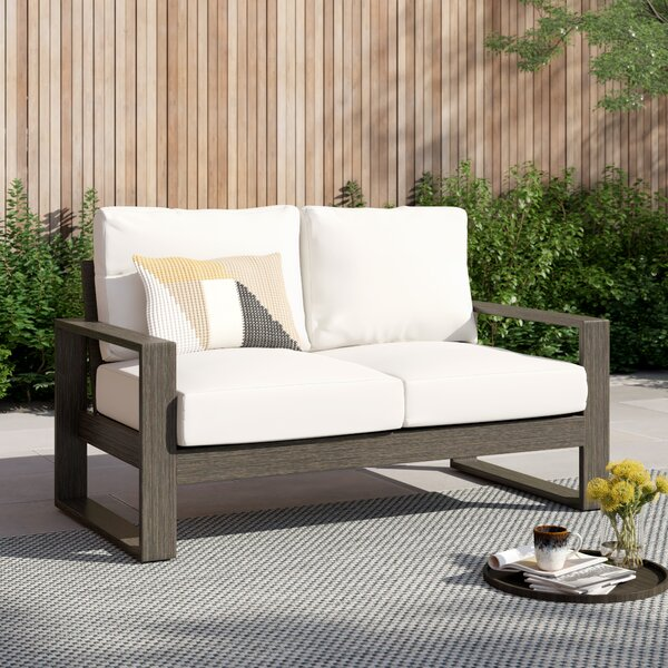 Parks Patio Loveseat with Cushions by Foundstone