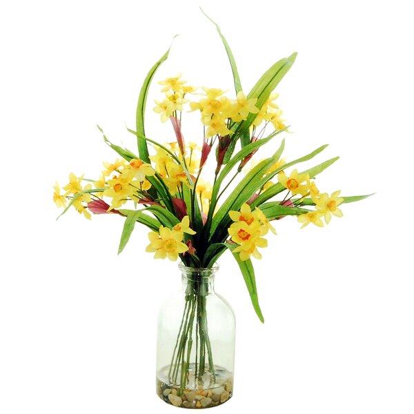 Narcissus Floral Arrangement by Red Barrel Studio