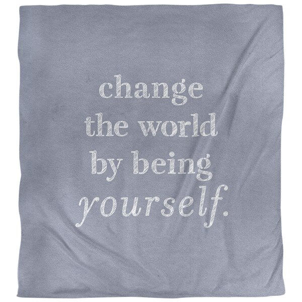 Change the World Quote Single Duvet Cover