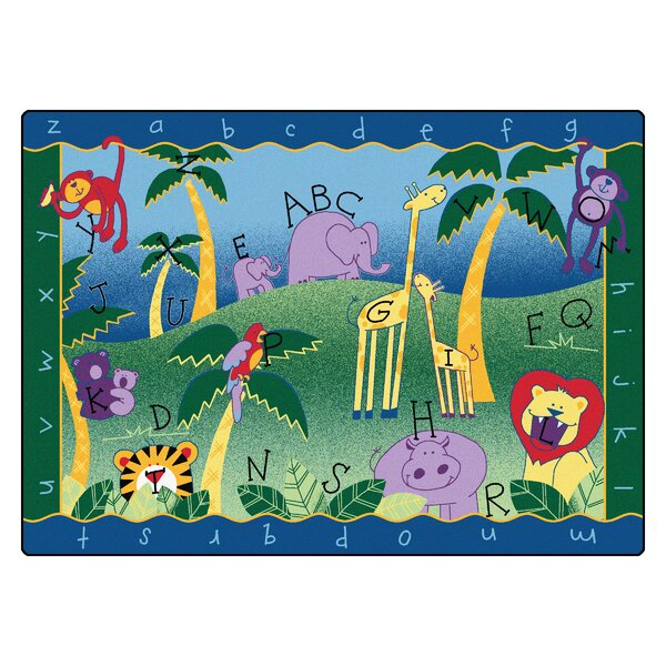 Camila Alphabet Jungle Kids Area Rug by Zoomie Kids