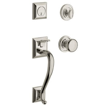 Madison Single Cylinder Handleset with Classic Interior Lever by Baldwin