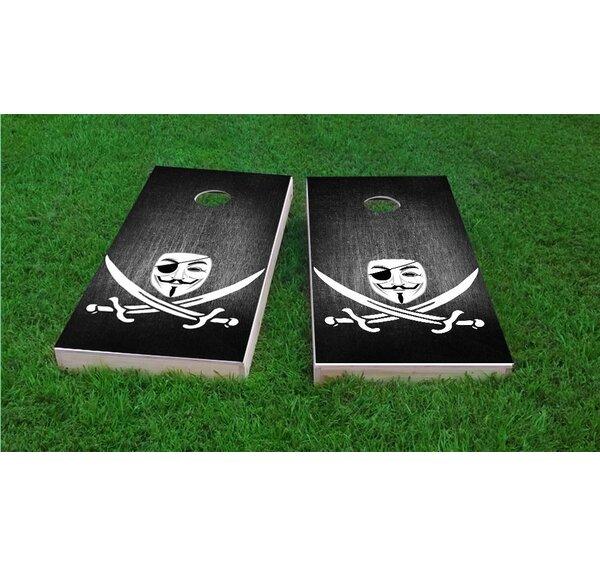 Anonymous Piracy Cornhole Game Set by Custom Cornhole Boards