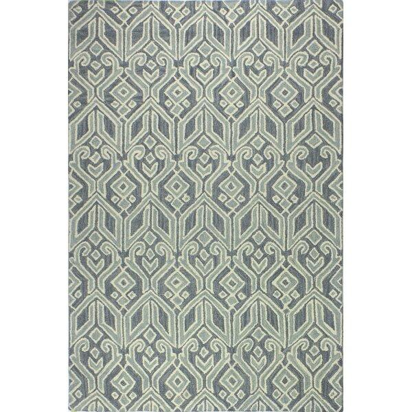 Humboldt Hand-Woven Wool Teal Area Rug by Brayden Studio