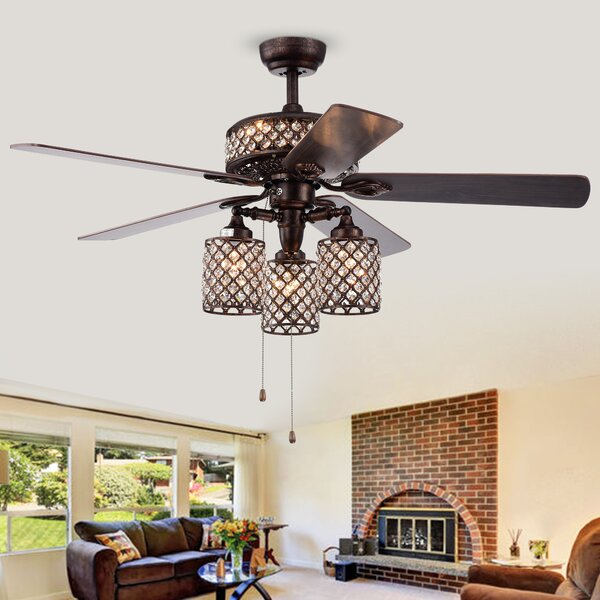 52 Deleon 5 Blade Ceiling Fan by House of Hampton