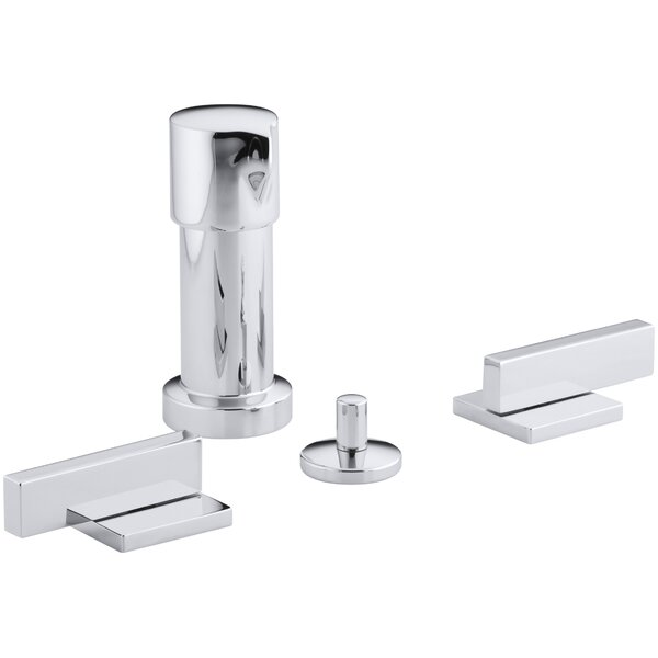 Loure Vertical Bidet Faucet with Lever Handles by Kohler