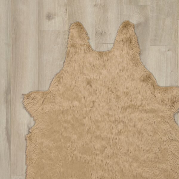 Sonnier Faux Sheepskin Beige Area Rug by Willa Arlo Interiors