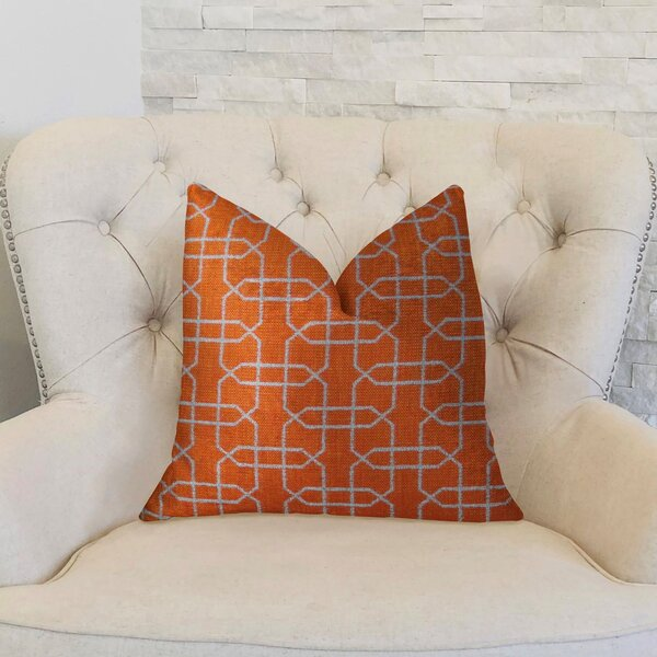 Ardmore Persimmon Handmade Throw Pillow by Plutus Brands
