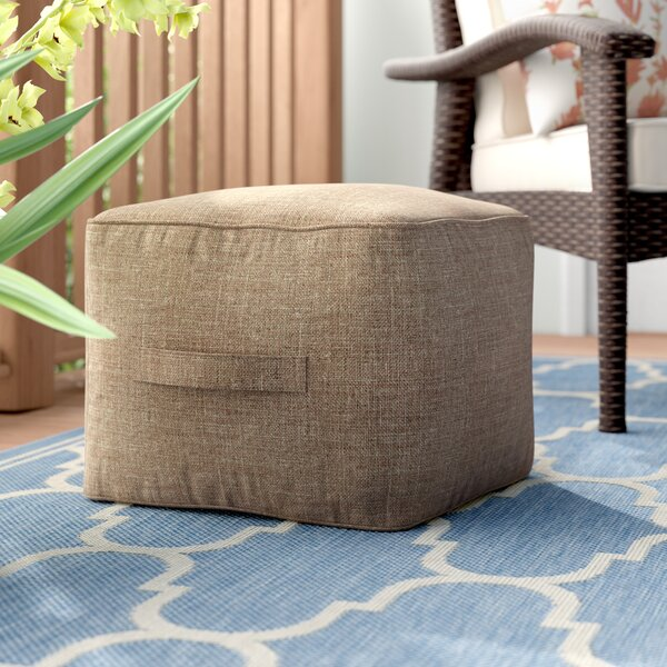 Kearse Outdoor Ottoman with Cushion by Alcott Hill